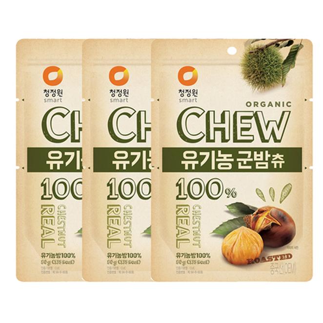 청정원 츄앤리얼 유기농 군밤츄, 80g, 3개