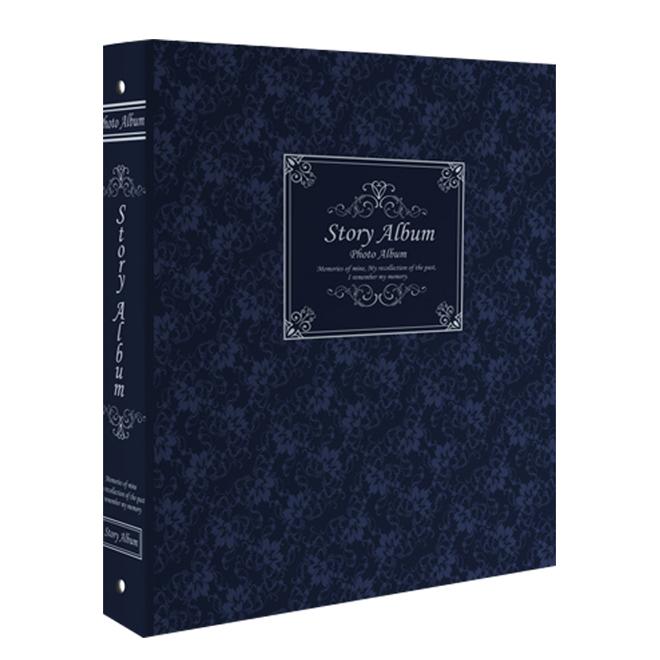 제이앤에이치 스토리앨범 4 x 6 백지포켓 50매, 클래식 블루