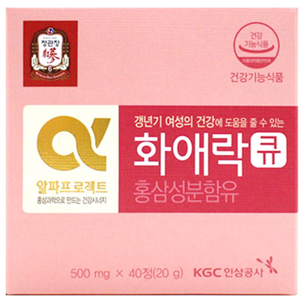 정관장 화애락 큐 홍삼캡슐, 20g, 1개