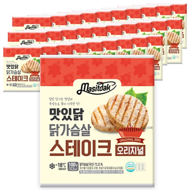 맛있닭 닭가슴살 스테이크 오리지널, 100g, 30팩