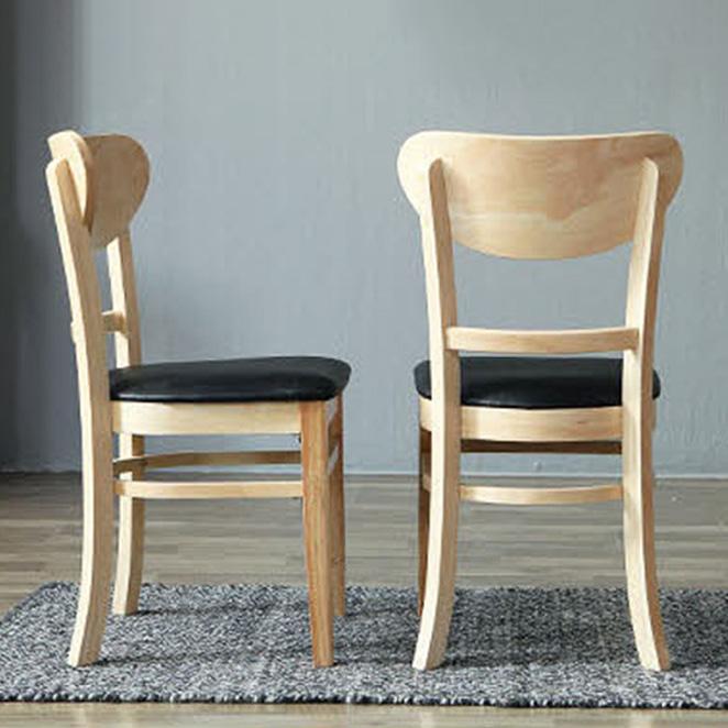 베스트리빙 캘빈 쿠키 의자 2p, 내츄럴 + 블랙