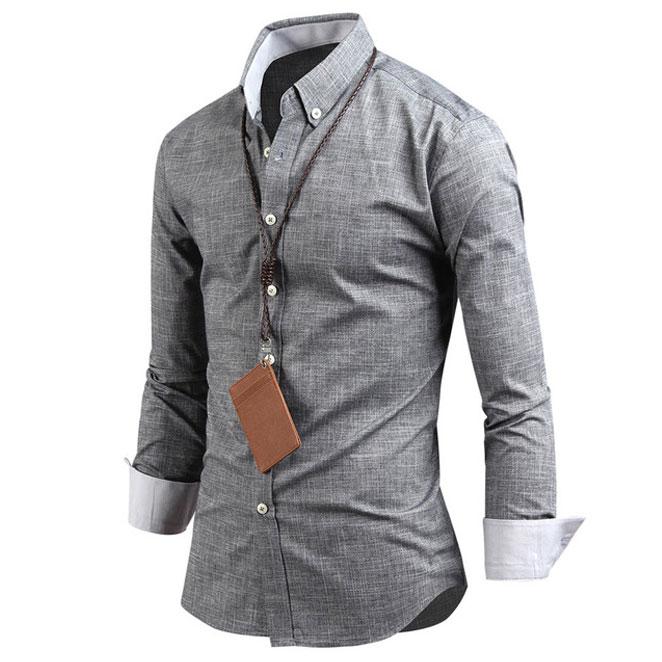 다꾸앙 남성용 나이트 레인 긴팔 셔츠 SH2355