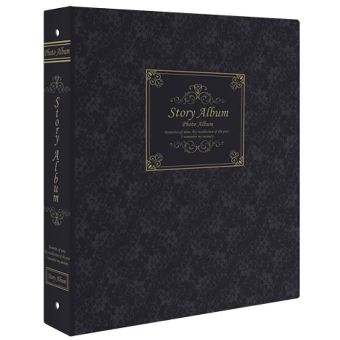 제이앤에이치 스토리앨범 4 x 6 백지포켓 50매, 클래식 블랙