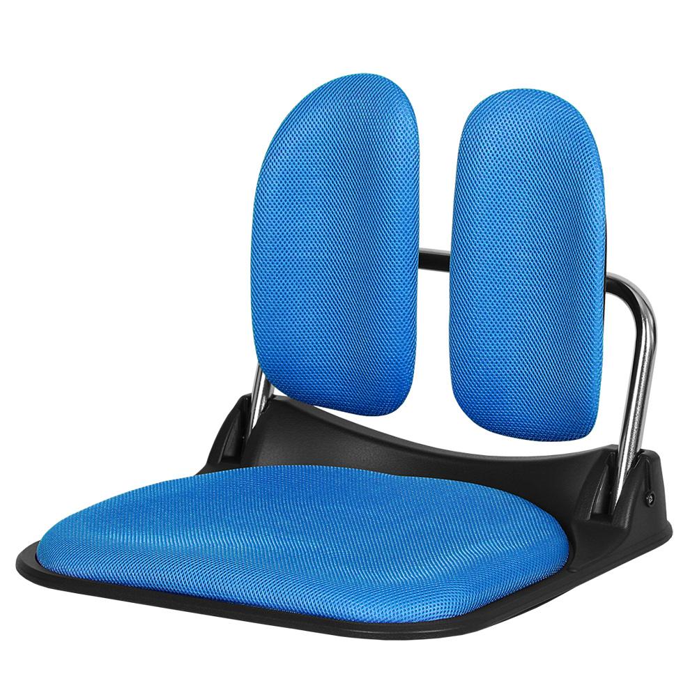 체어클럽 골드백2500 듀얼 좌식의자, 블루
