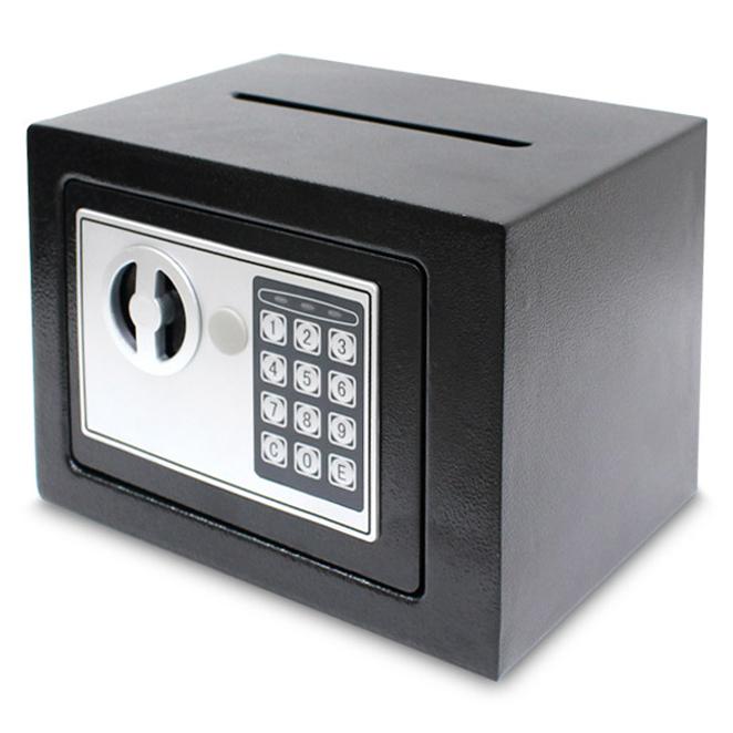 디지털 지폐투입구 안전 금고 17D, 블랙