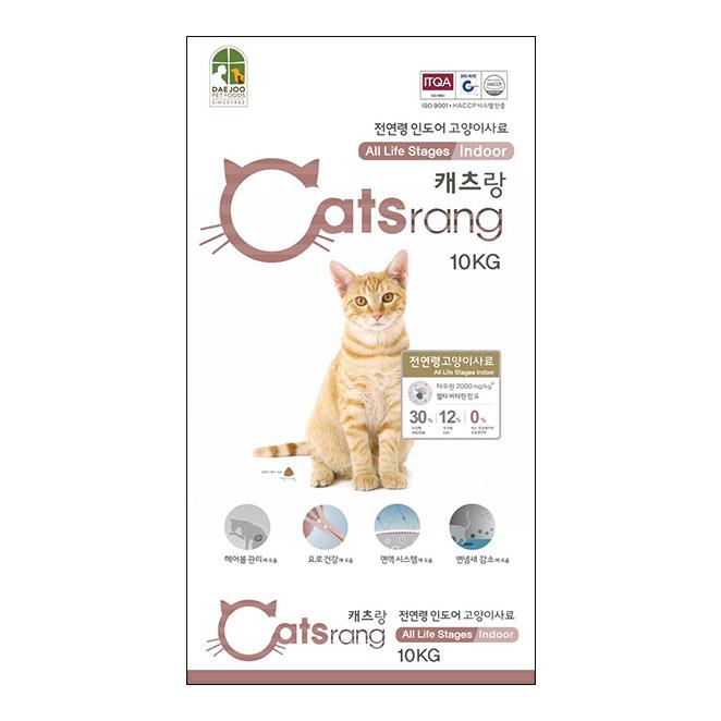 캐츠랑 전연령 인도어겸용 고양이 건식사료, 10kg, 1개