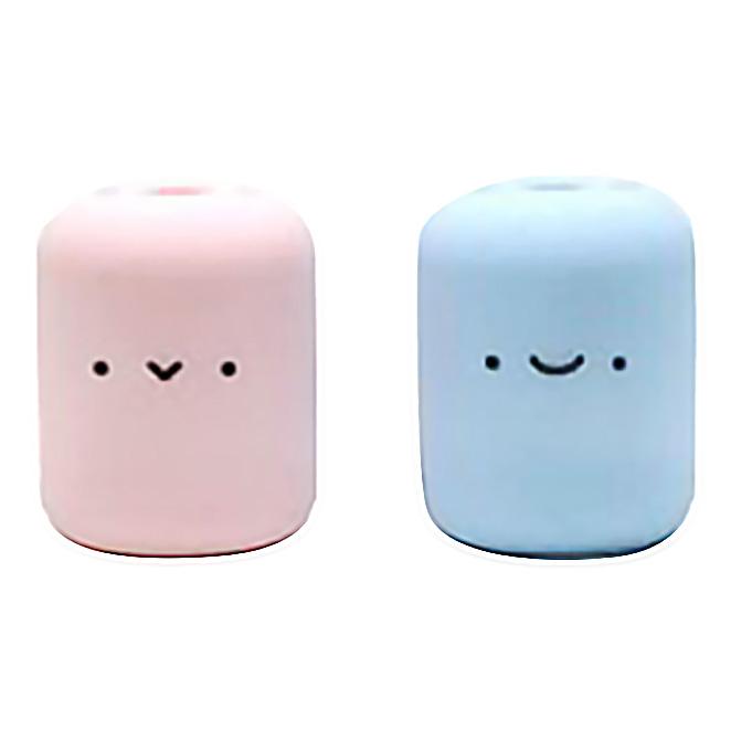 MIKEEP 멀티멜로우 다용도 칫솔꽂이, 핑크, 블루, 1세트