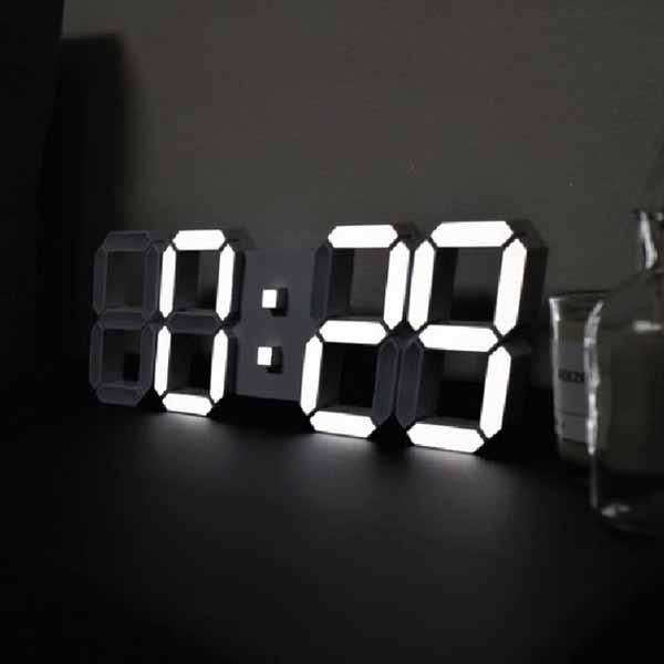 루나리스 3D LED 대형 벽시계, 쿨화이트