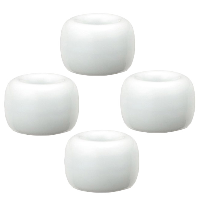 블럭마트 욕실 도자기 칫솔꽂이, 화이트, 4개입 (POP 1058465503)