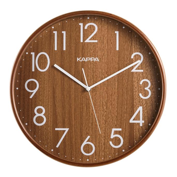 카파 자작나무 인테리어 벽시계 W683, 월넛