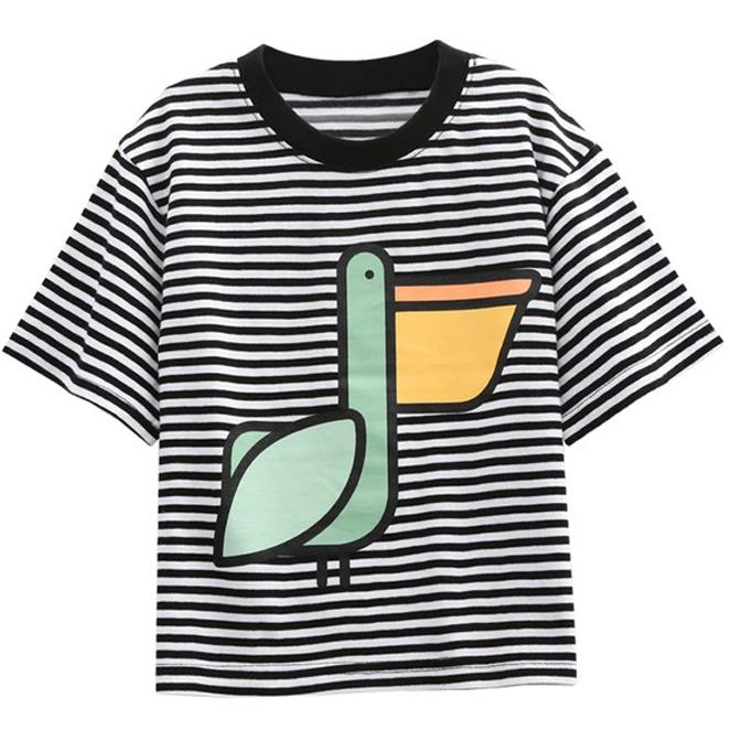 리틀래빗 유아용 펠리줄지 반팔 티셔츠