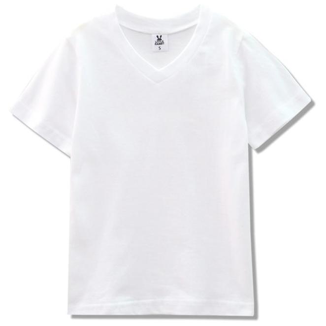 리틀래빗 키즈용 비비드 브이 반팔 티셔츠