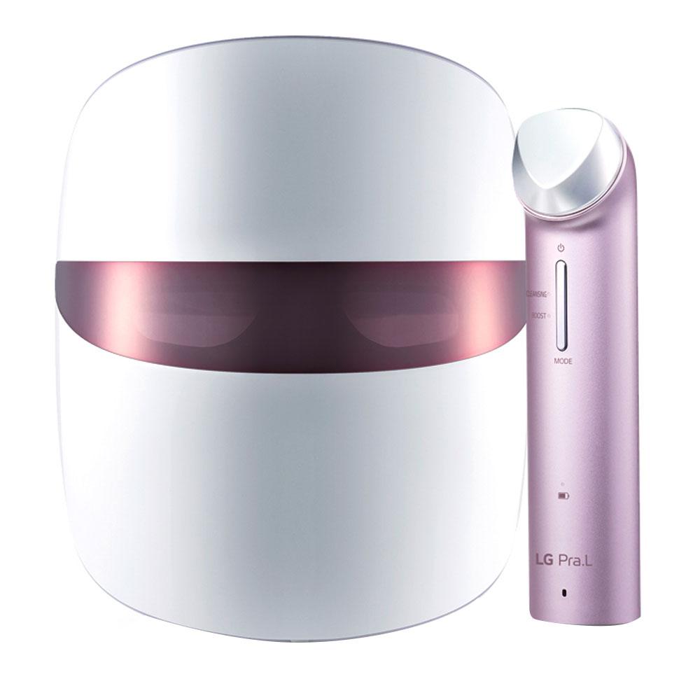 LG전자 프라엘 갈바닉 이온 부스터 + 더마 LED 마스크 개선 관리 패키지 최신형, 스틸핑크 7종, 1세트
