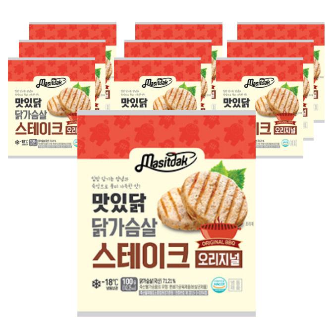 맛있닭 닭가슴살 스테이크 오리지널, 100g, 10팩