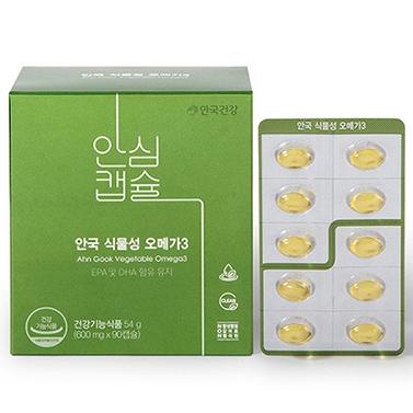 안국건강 식물성 오메가3, 90캡슐, 1개