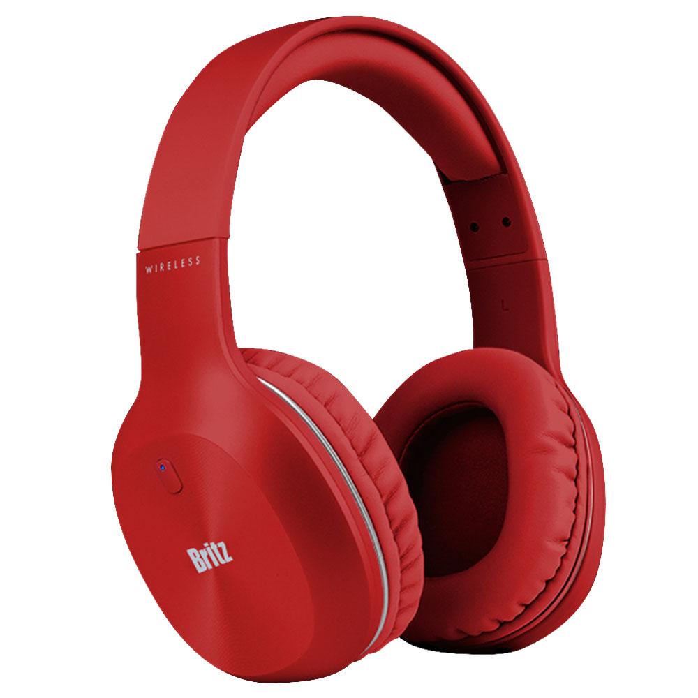 브리츠 유무선 블루투스 헤드폰, Red, W800BT Qplus