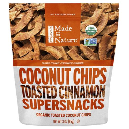 메이드인네이쳐 토스티드 코코넛 칩스, Cinnamon Swirl, 85g