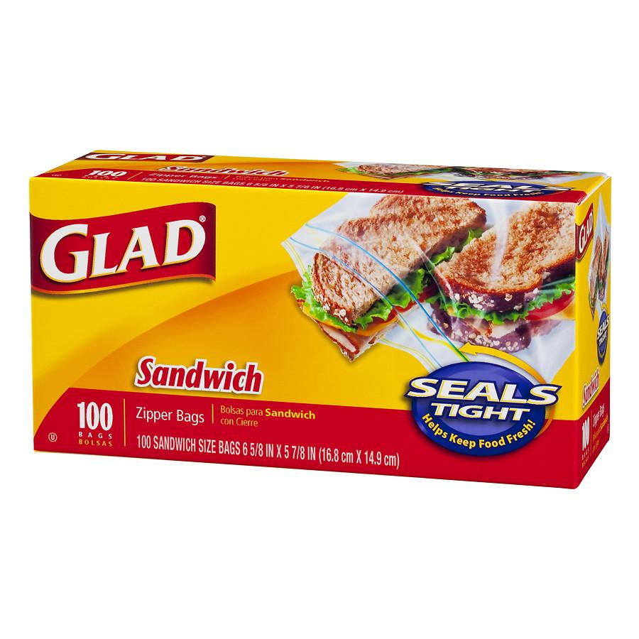 글래드 샌드위치 지퍼 백 16.8 x 14.9cm, 100개입, 1개