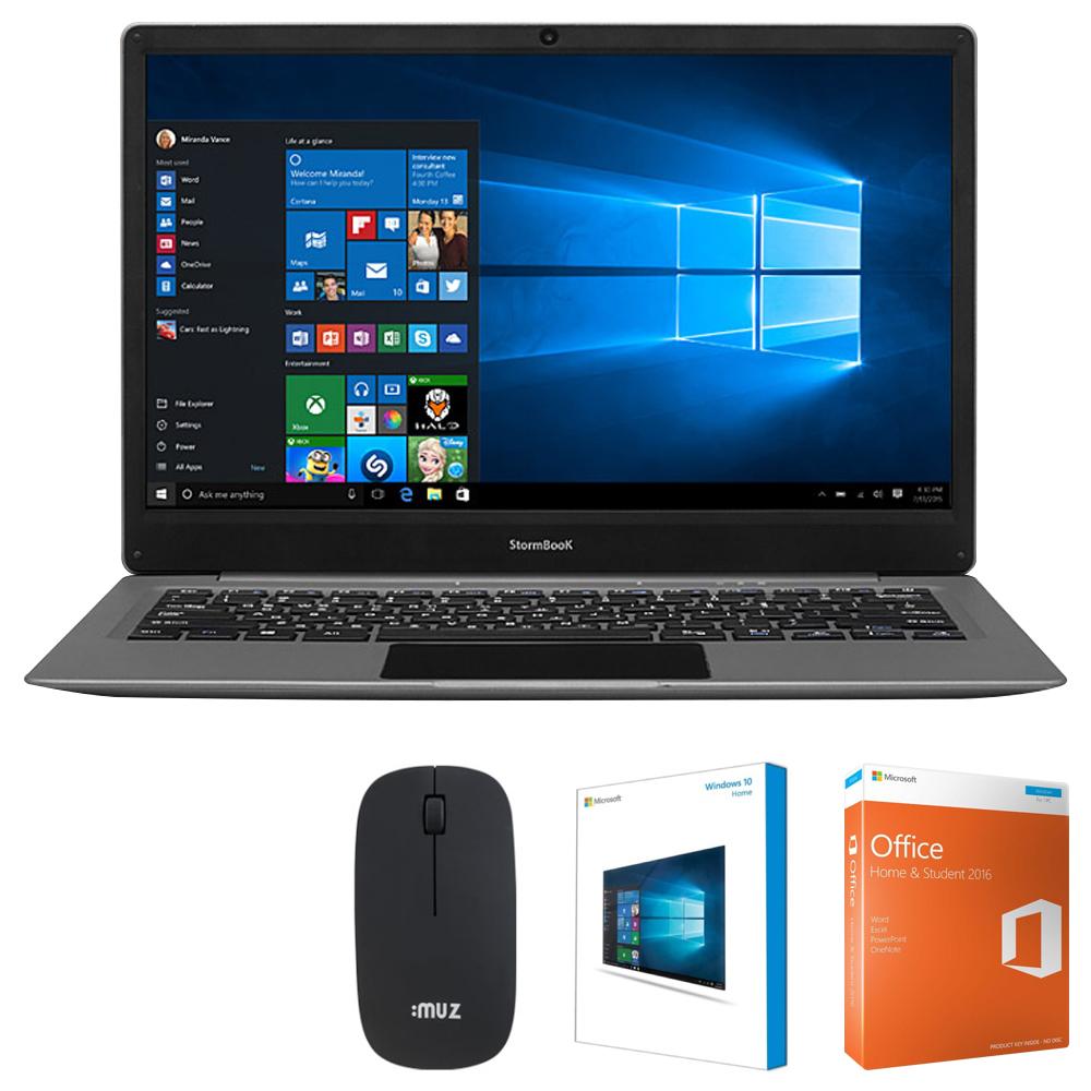 아이뮤즈 스톰북 13 노트북 (Atom-Z8350 33.78cm eMMC32G) + 알뜰패키지, 2GB, WIN10 Home, 그레이