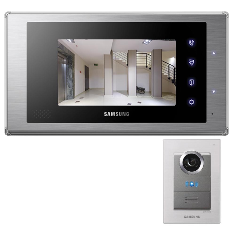 삼성SDS 아날로그 7형 컬러 비디오폰 SHT-3517NT + 도어폰 SHT-CN510, 2종, 1세트