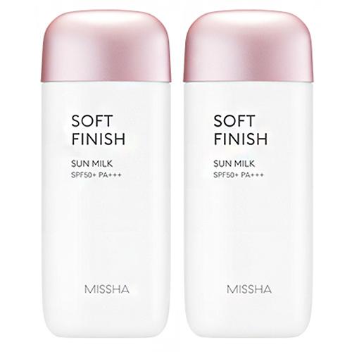 미샤 올 어라운드 세이프 블록 소프트 피니쉬 선밀크 SPF50+/PA+++, 2개