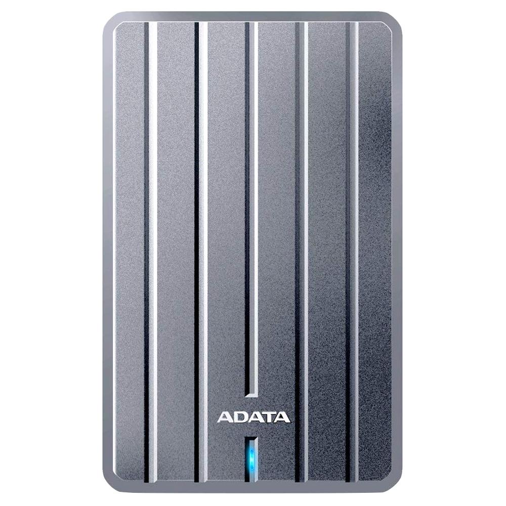 에이데이타 초슬림 외장하드 9.6mm HC660, 1TB, 티타늄 실버