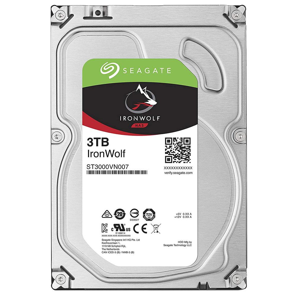씨게이트 IronWolf SATA3 HDD, ST3000VN007, 3TB