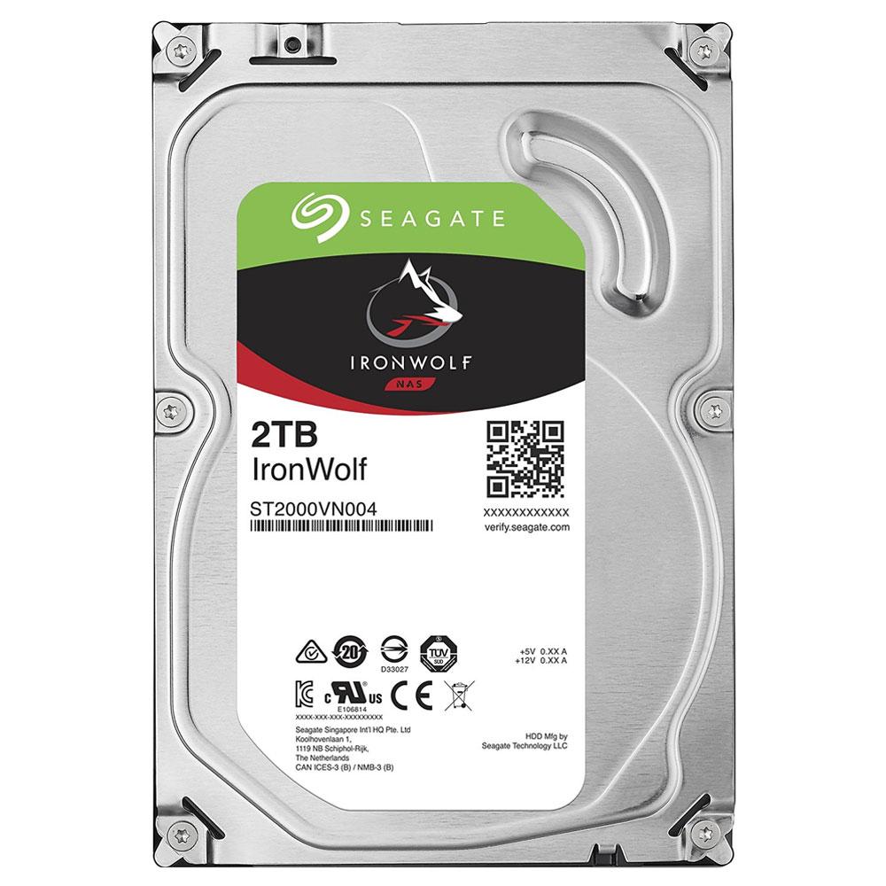 씨게이트 IronWolf SATA3 HDD, ST2000VN004, 2TB