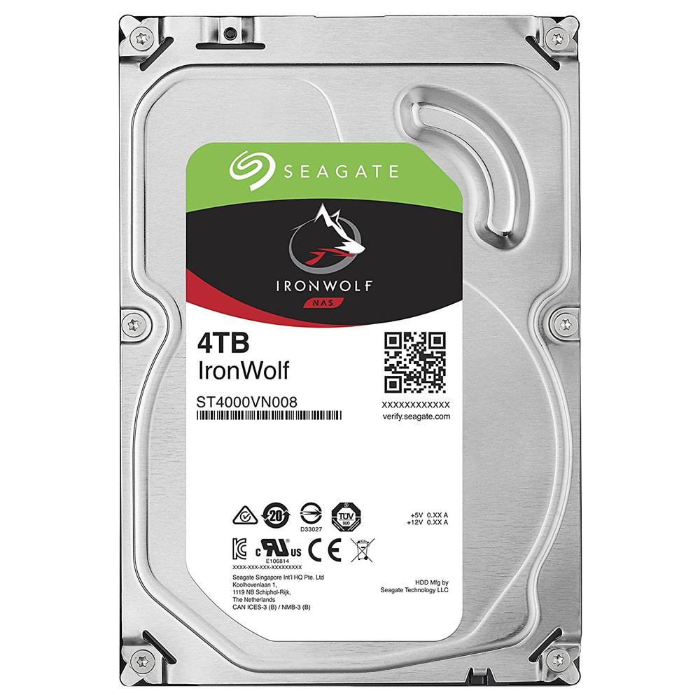 씨게이트 IronWolf SATA3 HDD, ST4000VN008, 4TB