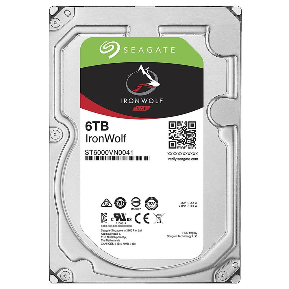 씨게이트 IronWolf SATA3 HDD, ST6000VN0041, 6TB