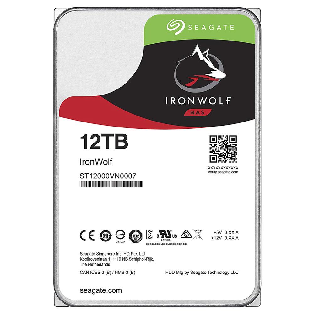 씨게이트 IronWolf SATA3 HDD, ST12000VN0007, 12TB