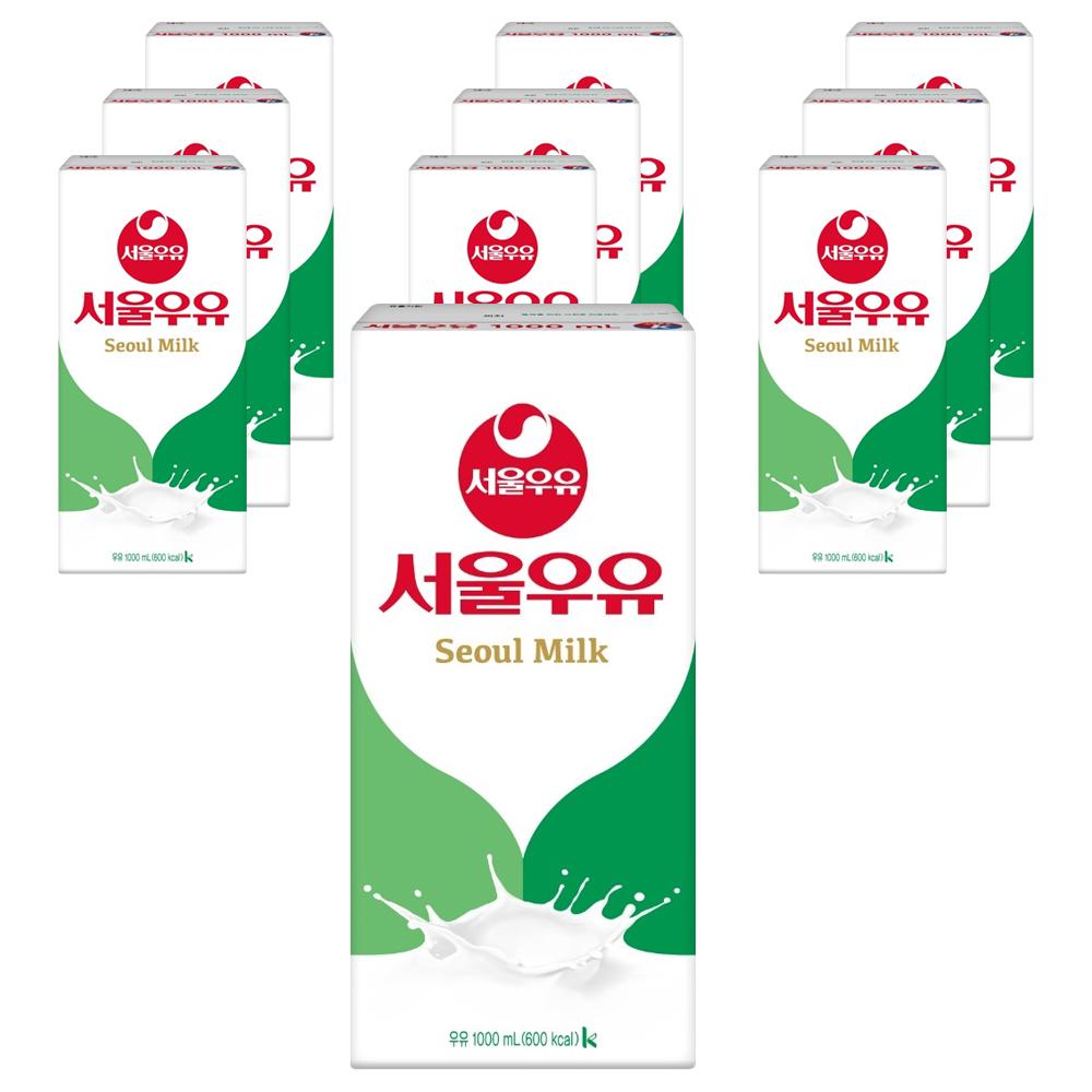 서울우유 멸균 흰우유, 1000ml, 10팩