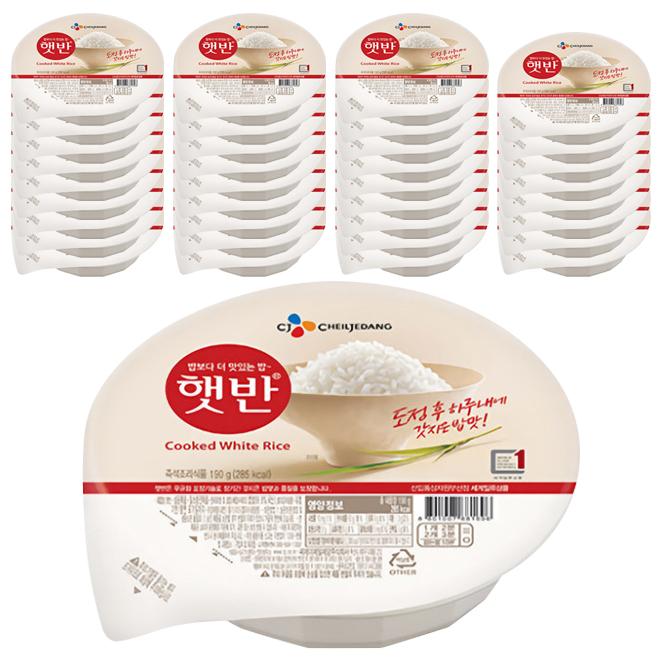 햇반 백미밥, 190g, 36개