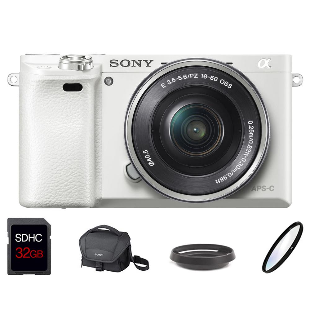 소니 미러리스 카메라 알파 A6000L SELP1650 줌렌즈킷 + SDHC 32GB + LCS-U11 + 메탈후드 + UV필터, A6000L(화이트)