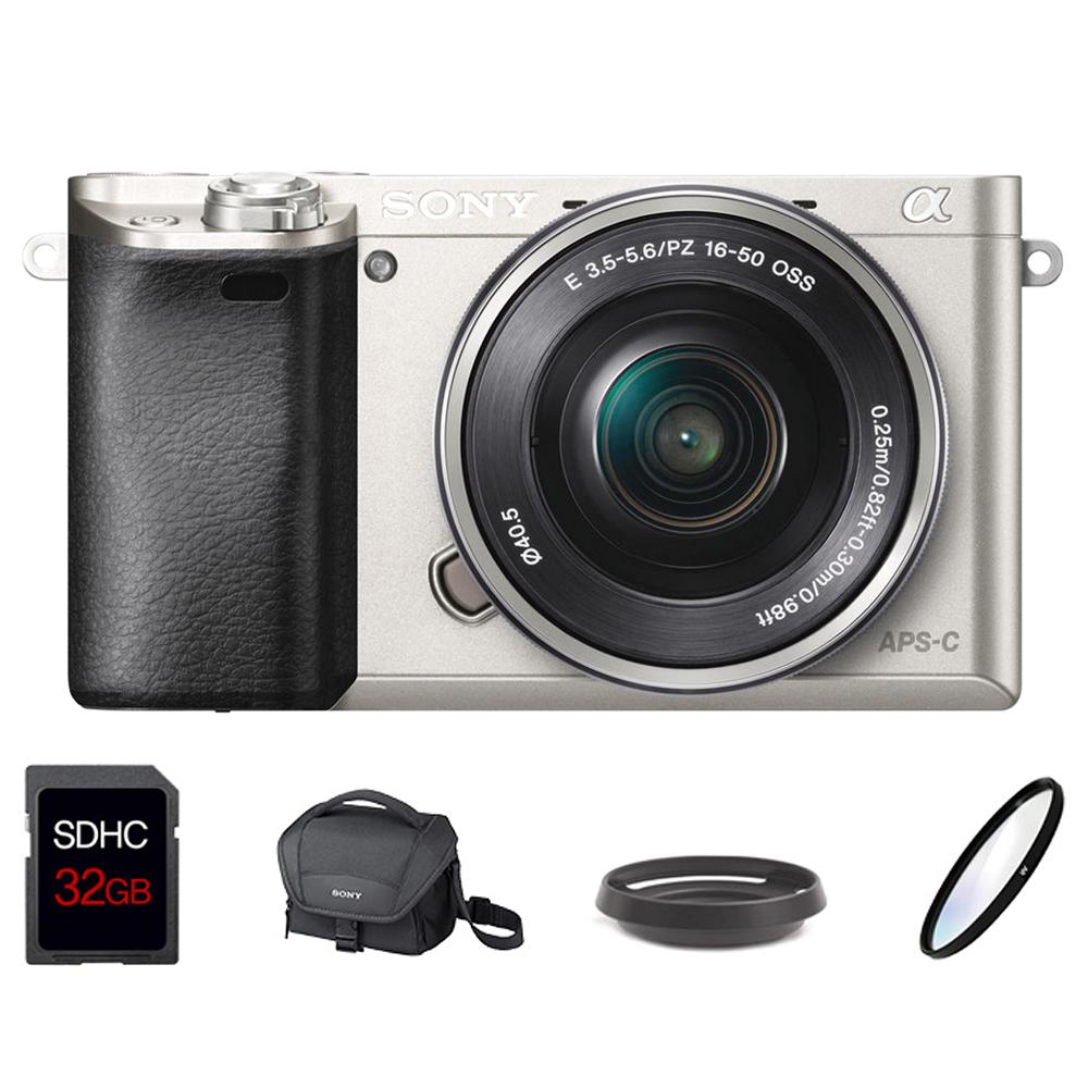 소니 미러리스 카메라 알파 A6000L SELP1650 줌렌즈킷 + SDHC 32GB + LCS-U11 + 메탈후드 + UV필터, A6000L(실버)