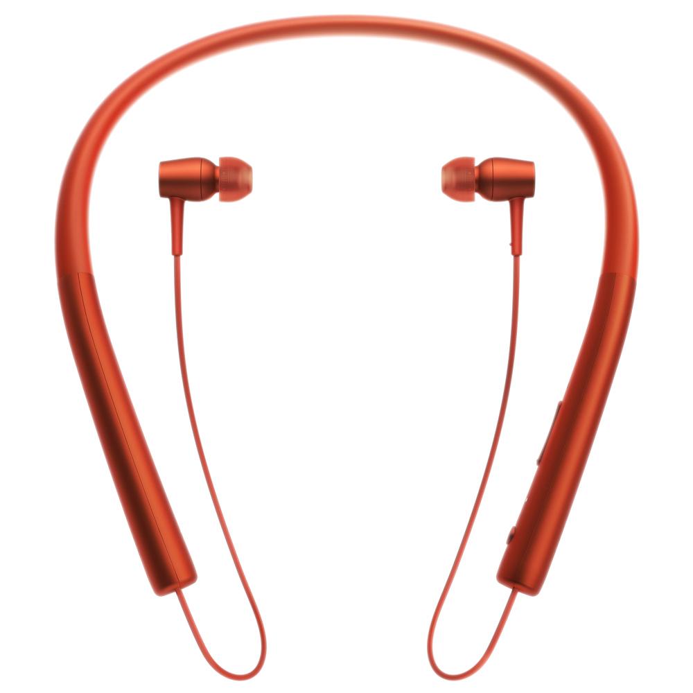 소니 스테레오 블루투스 이어폰, MDR-EX750BT, 시나바 레드
