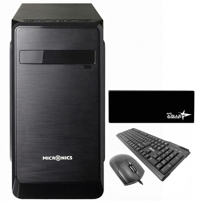 슈퍼스타 온라인게임용 조립PC NO12 (R5 2400G WIN10 DDR4 8G SSD 240G) + 장패드 + 키보드 + 마우스, 단일상품, 기본형