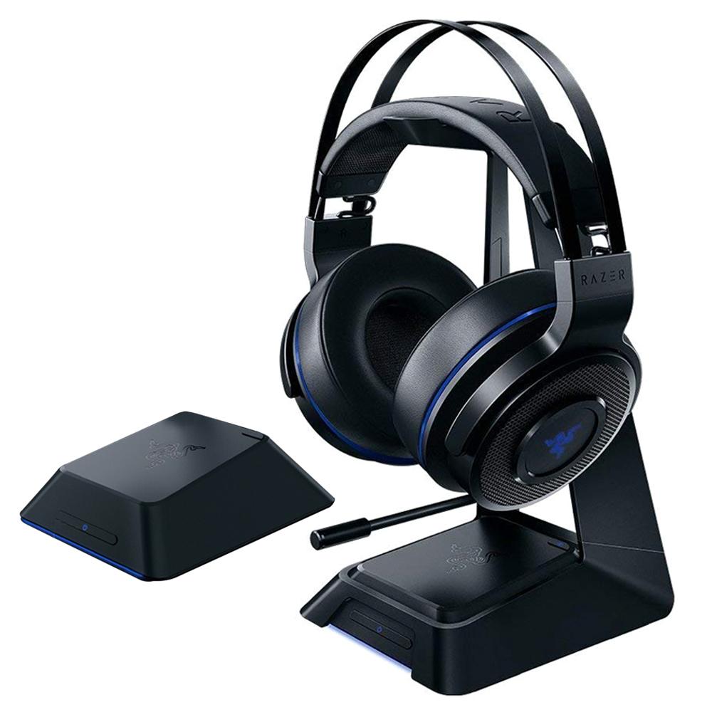 레이저 THRESHER ULTIMATE for PS4 무선 게이밍헤드셋 + 헤드셋 스탠드 + 7.1 서라운드 사운드 오디오 허브, 단일 상품, 혼합 색상