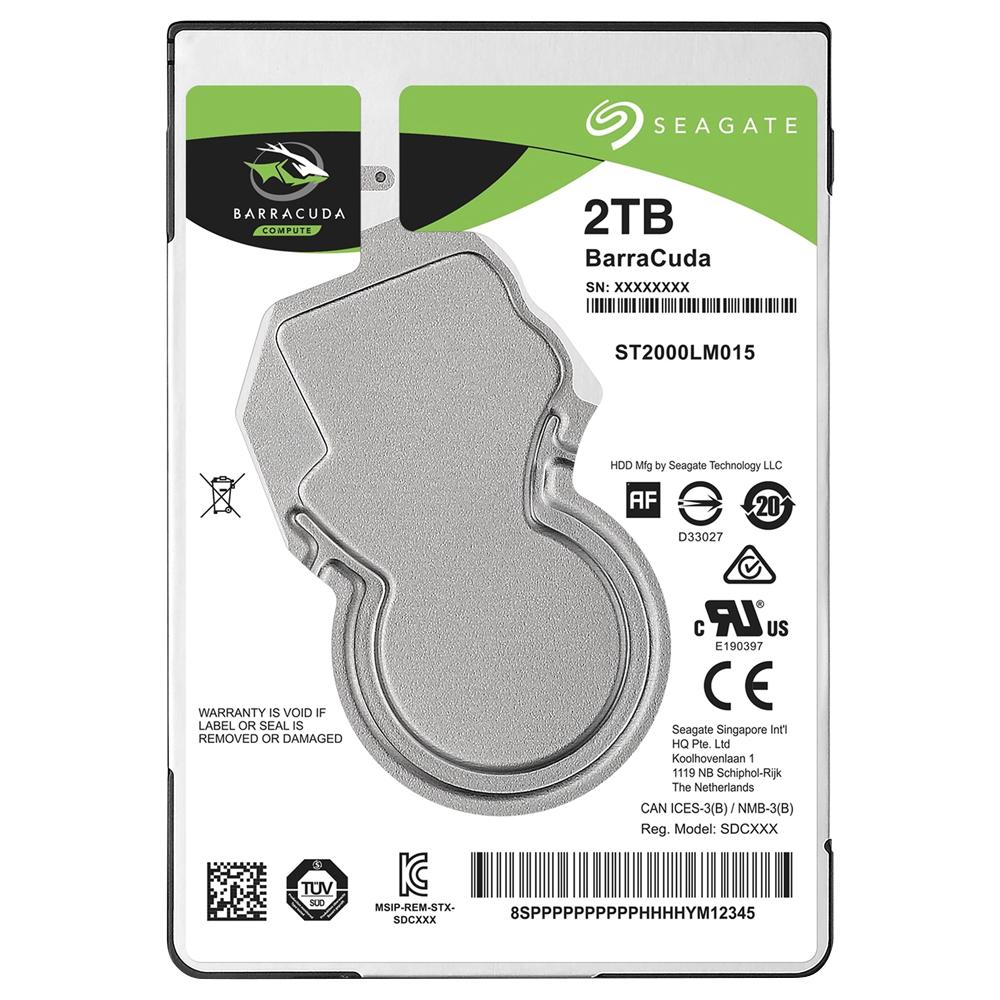 씨게이트 노트북용 바라쿠다 2.5 HDD, ST2000LM015, 2TB