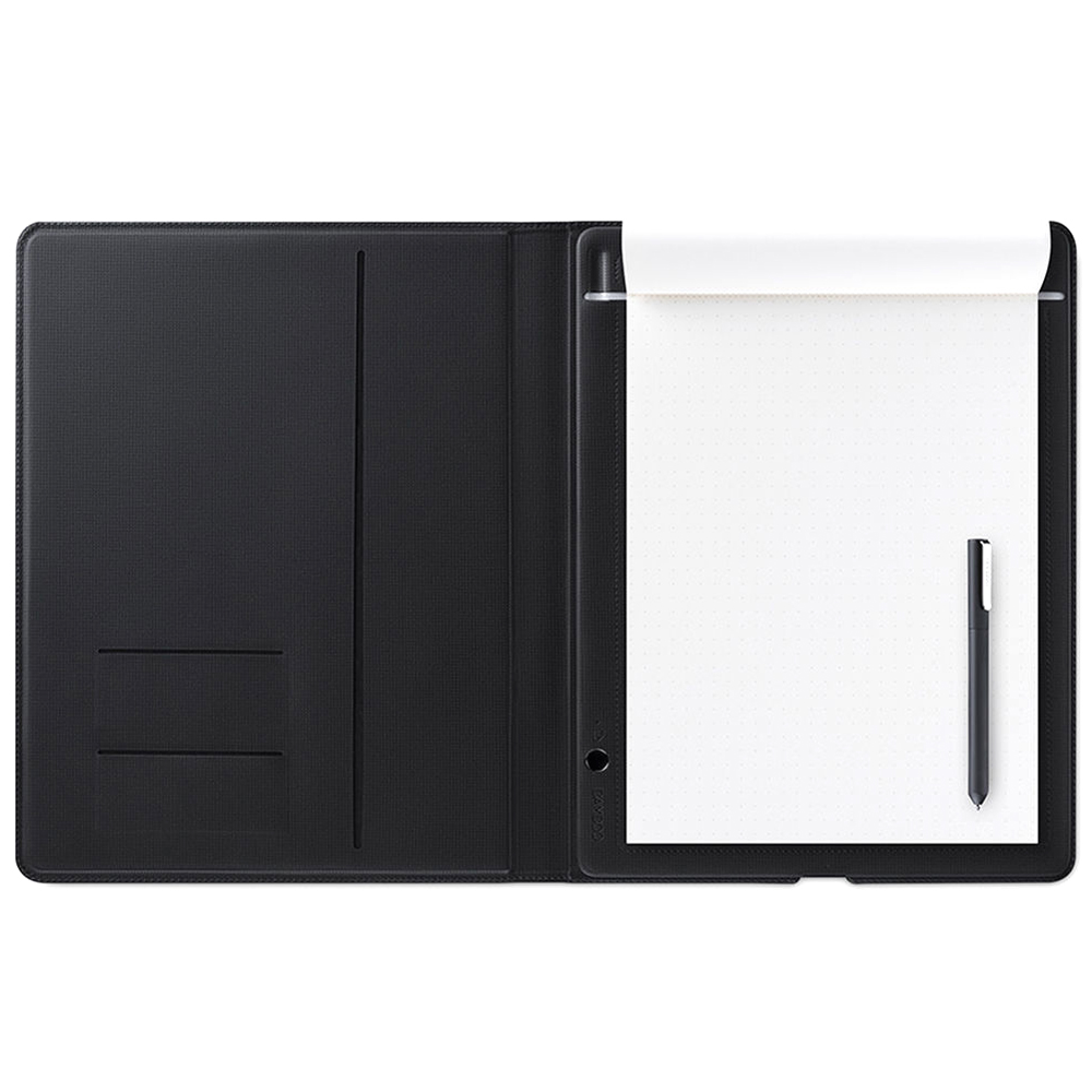 와콤 뱀부 폴리오 스마트 노트 패드 타블렛 소형 CDS-610G, 단일 상품, 다크 그레이