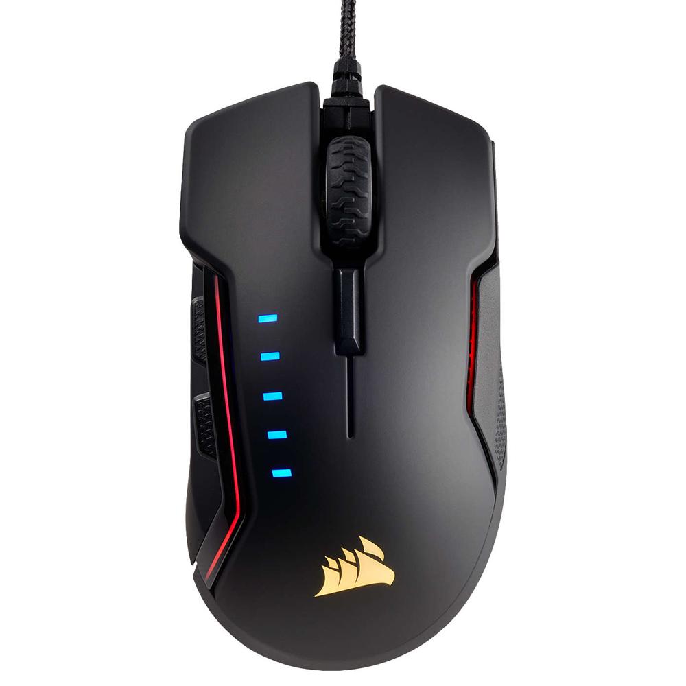 커세어 GLAIVE RGB 마우스, 단일 상품, 블랙