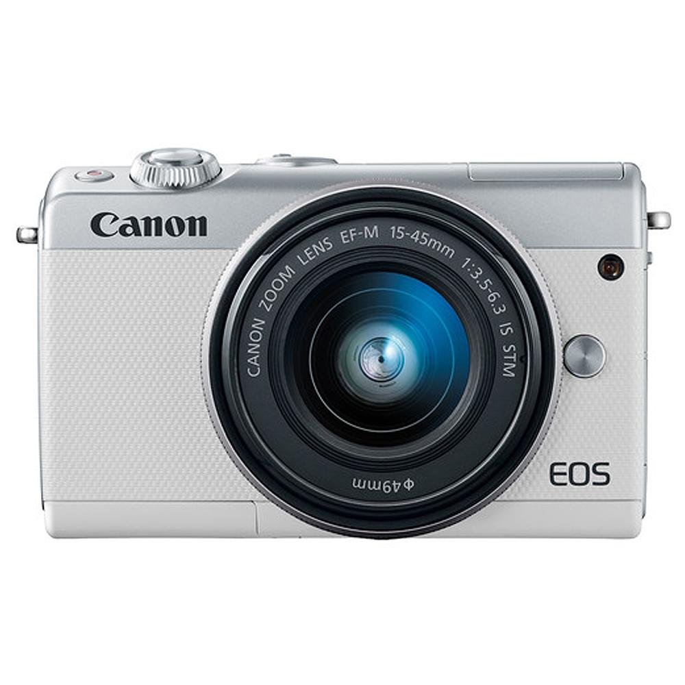 캐논 EOS M100 15-45 KIT 미러리스 카메라, EOS M100(화이트)