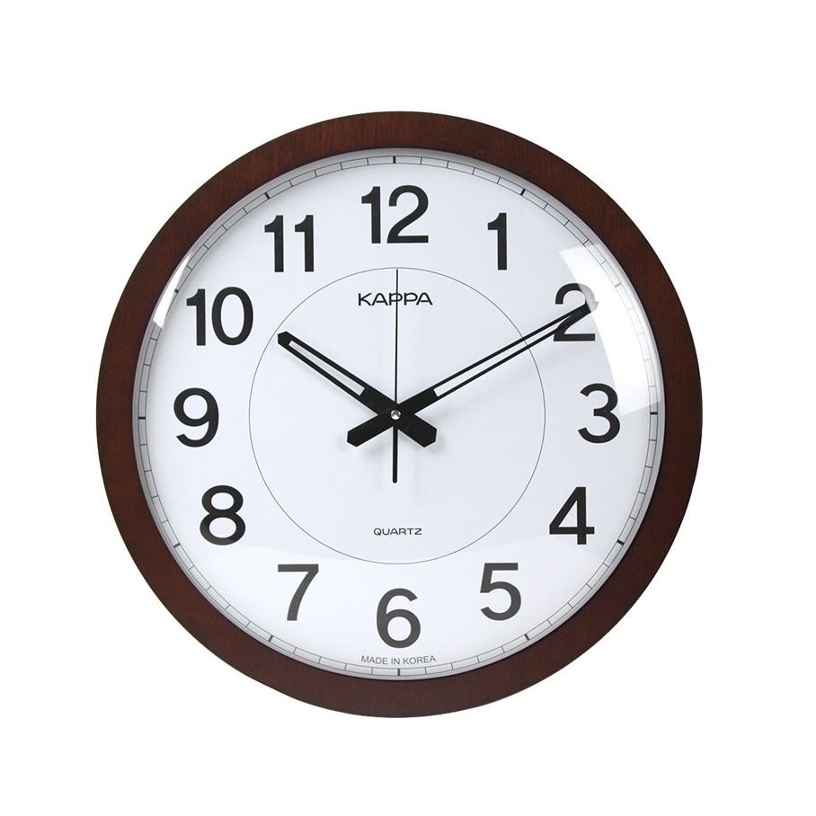 카파 저소음 대형 인테리어벽시계 W626, 브라운