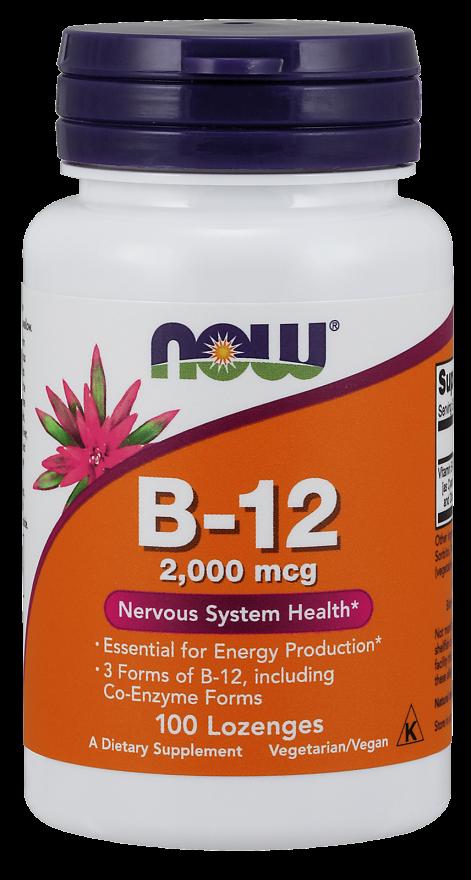 Now Foods 비타민 B-12 2000mcg 로젠지, 100개입, 1개