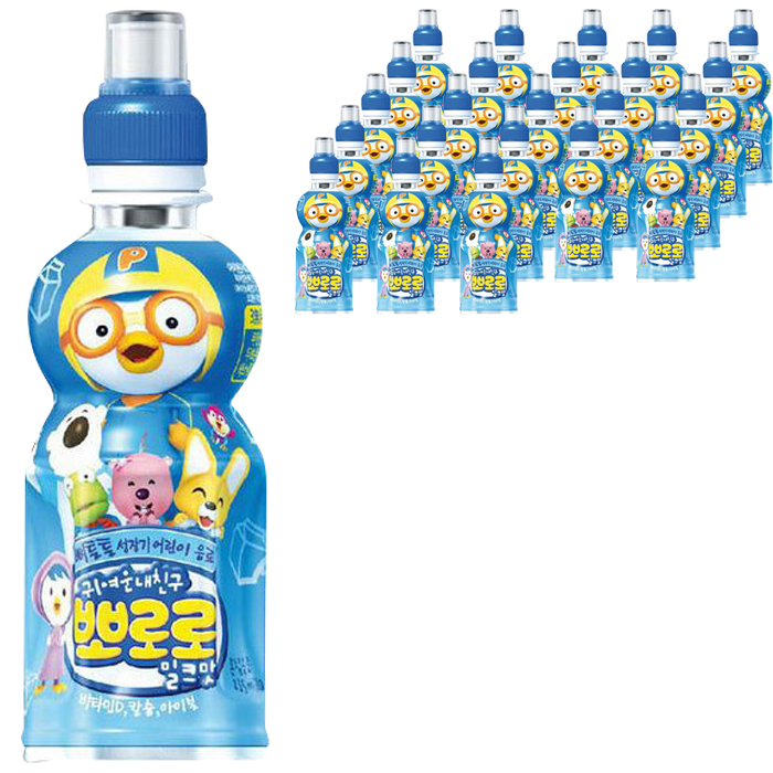 뽀로로 어린이음료 밀크맛 235 ml, 24개