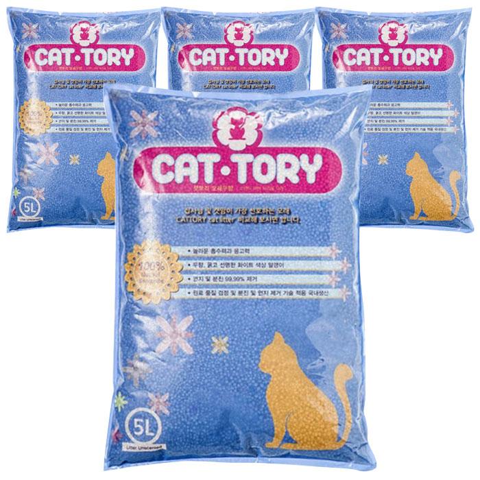 캣토리 고양이 모래 무향, 5L, 4개