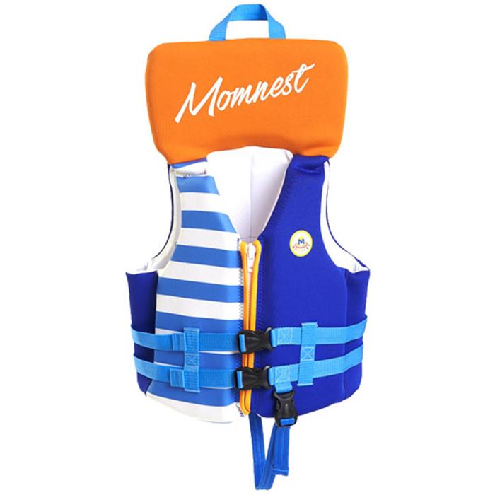 맘네스트 키즈 네오플랜 수영조끼, 블루