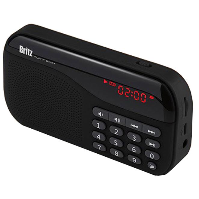브리츠 라디오 BA-PR1 SoundWalk, 블랙
