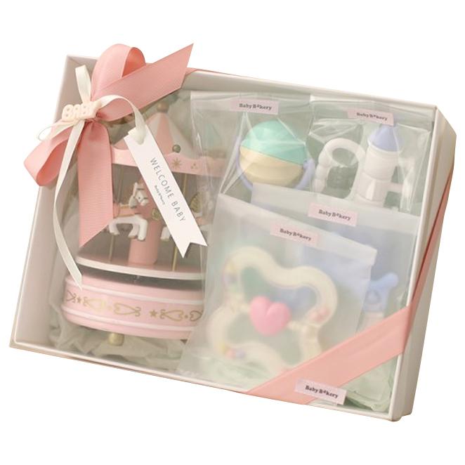 베이비베이커리 신생아용 회전목마 친구들 5종 출산선물세트