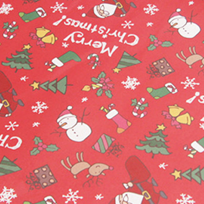 아이엔엠엔피 디자인 산타 아이콘 포장지, 레드, 10장